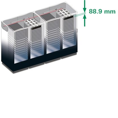 TITANUS RackSens with 2x2U for server racks