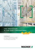 Fire protection for deep freeze storages